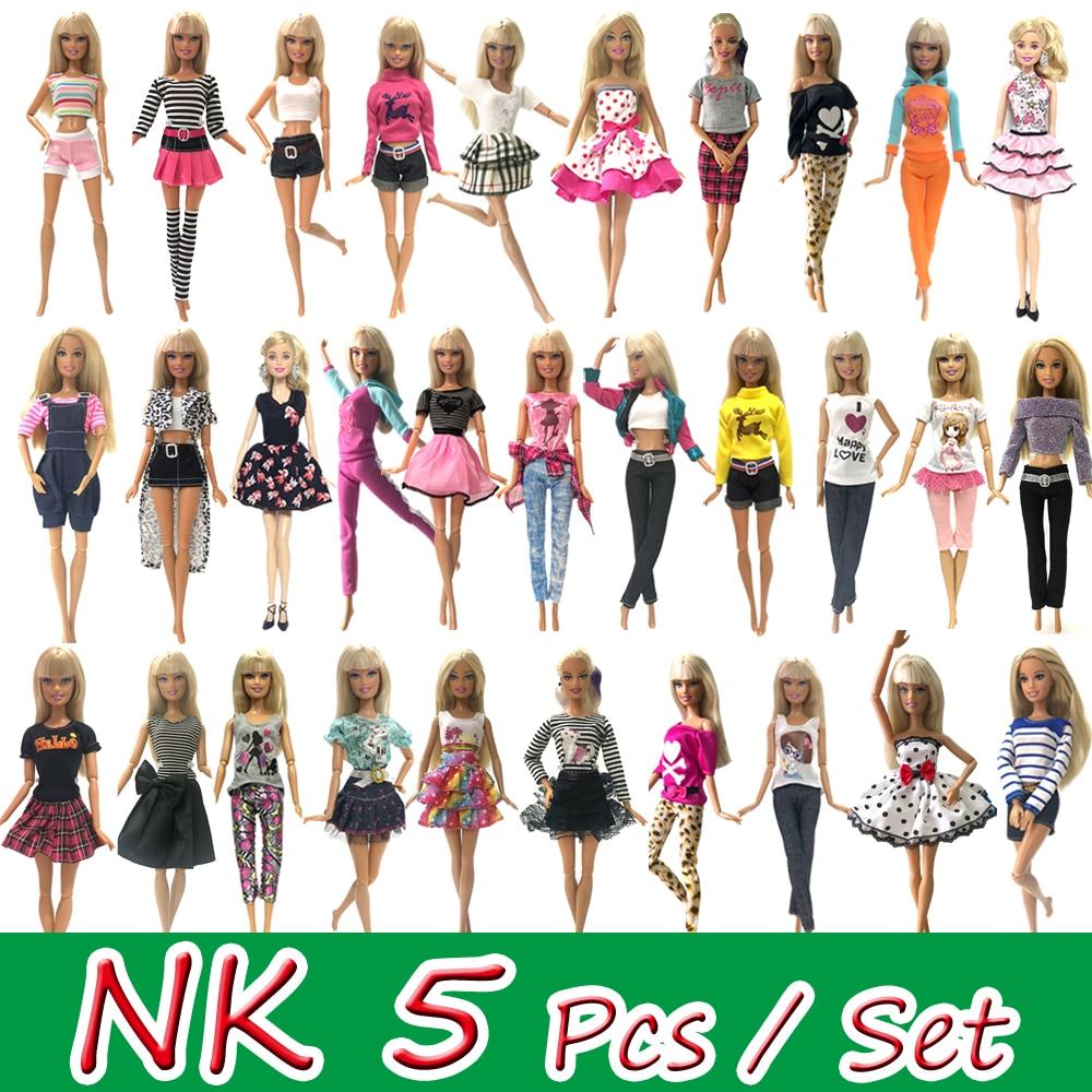 NK Mix Style 5 pièces robe de poupée belle danse Ballet vêtements mode tenue décontracté vêtements pour Barbie poupée accessoires JJ