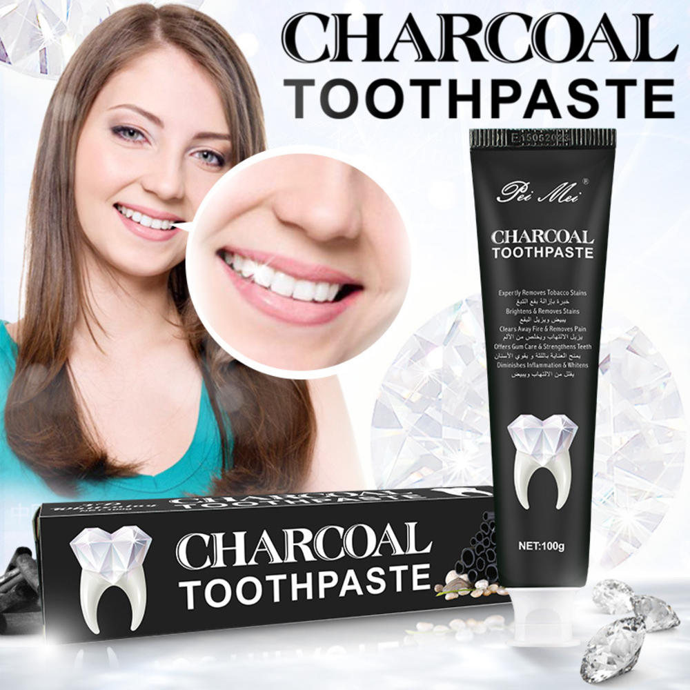 Stains Remover  Natural Bamboo Charcoal Toothpaste Dental Care 100g Activated Teeth Whitening Charcoal Toothpaste for Adult