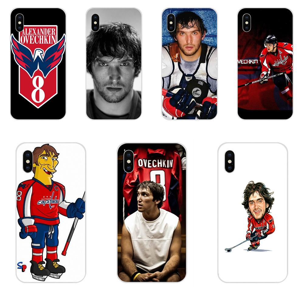 Luxury Hybrid Phone Case For Apple iPhone 4 4S 5 5C 5S SE 6 6S 7 8 Plus X XS Max XR Alexander Ovechkin(China)