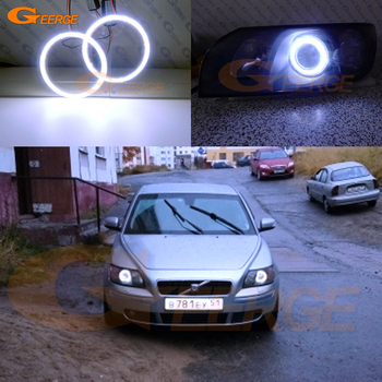 For Volvo S40 II V50 2004 2005 2006 2007 pre Facelift Excellent Ultra bright illumination COB led angel eyes kit halo rings excellent ultra bright cob led angel eyes kit halo ring for renault megane 2 ii 2006 2007 2008 2009 facelift headlight