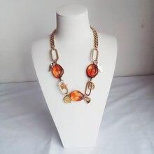 Асимметричное акриловое ожерелье чокер bock в стиле бохо круглая