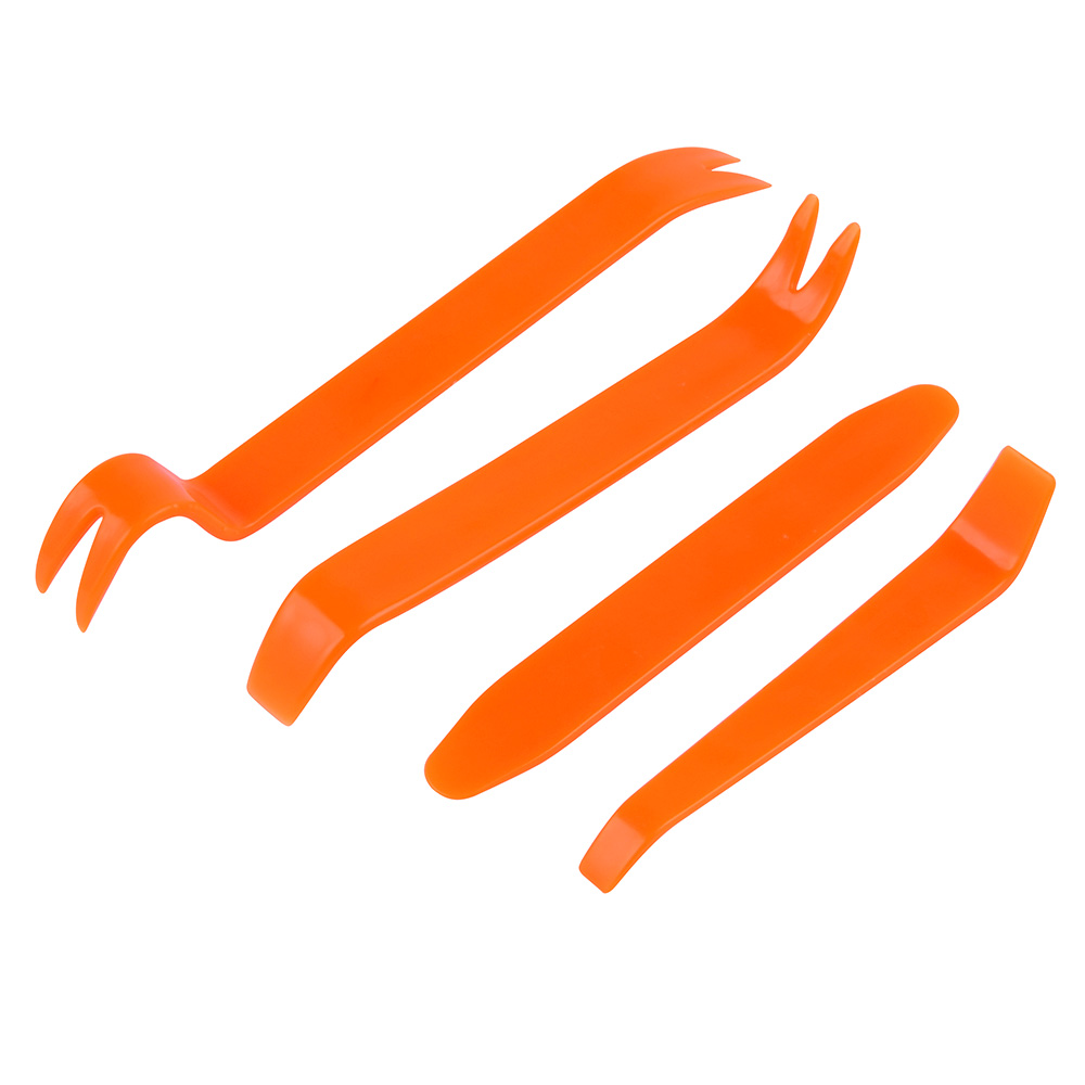Professional 4PCS Orange ABS Automobile Audio Door Clip Panel Trim Dash <font><b>Auto</b></font> Radio Removal Pry <font><b>Tools</b></font> Set Car Panel Removal <font><b>Tool</b></font> image