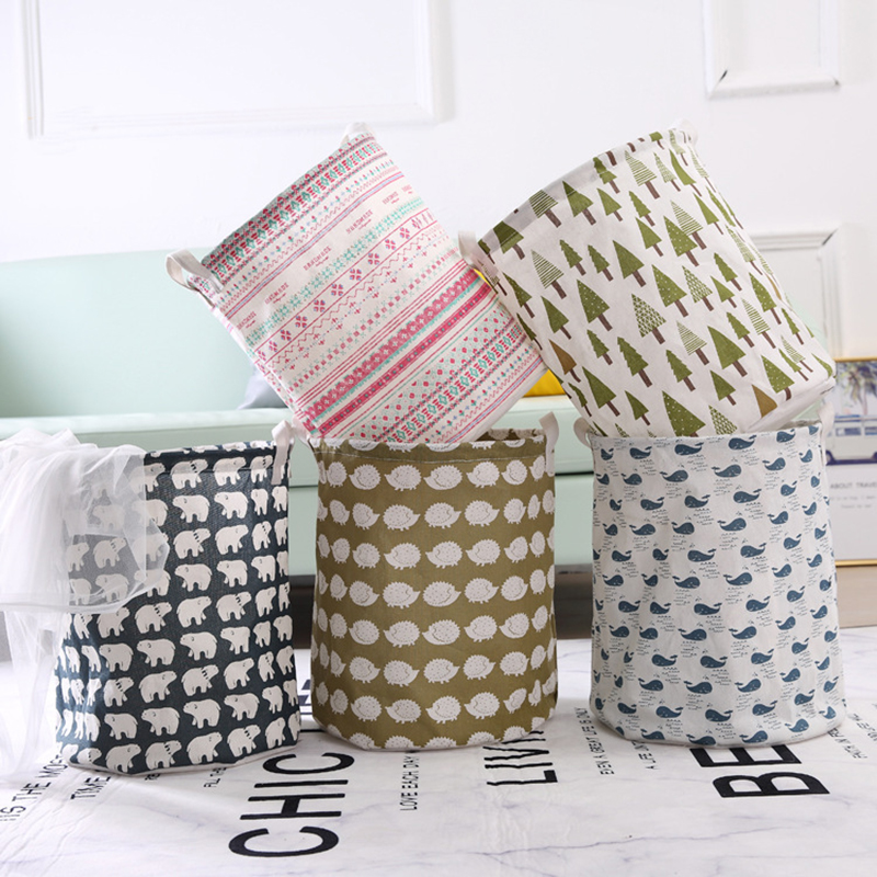Household Fabric Dirty Laundry Basket Dirty Laundry Basket Folding Clothing Storage Basket Storage Bucket Laundry Basket