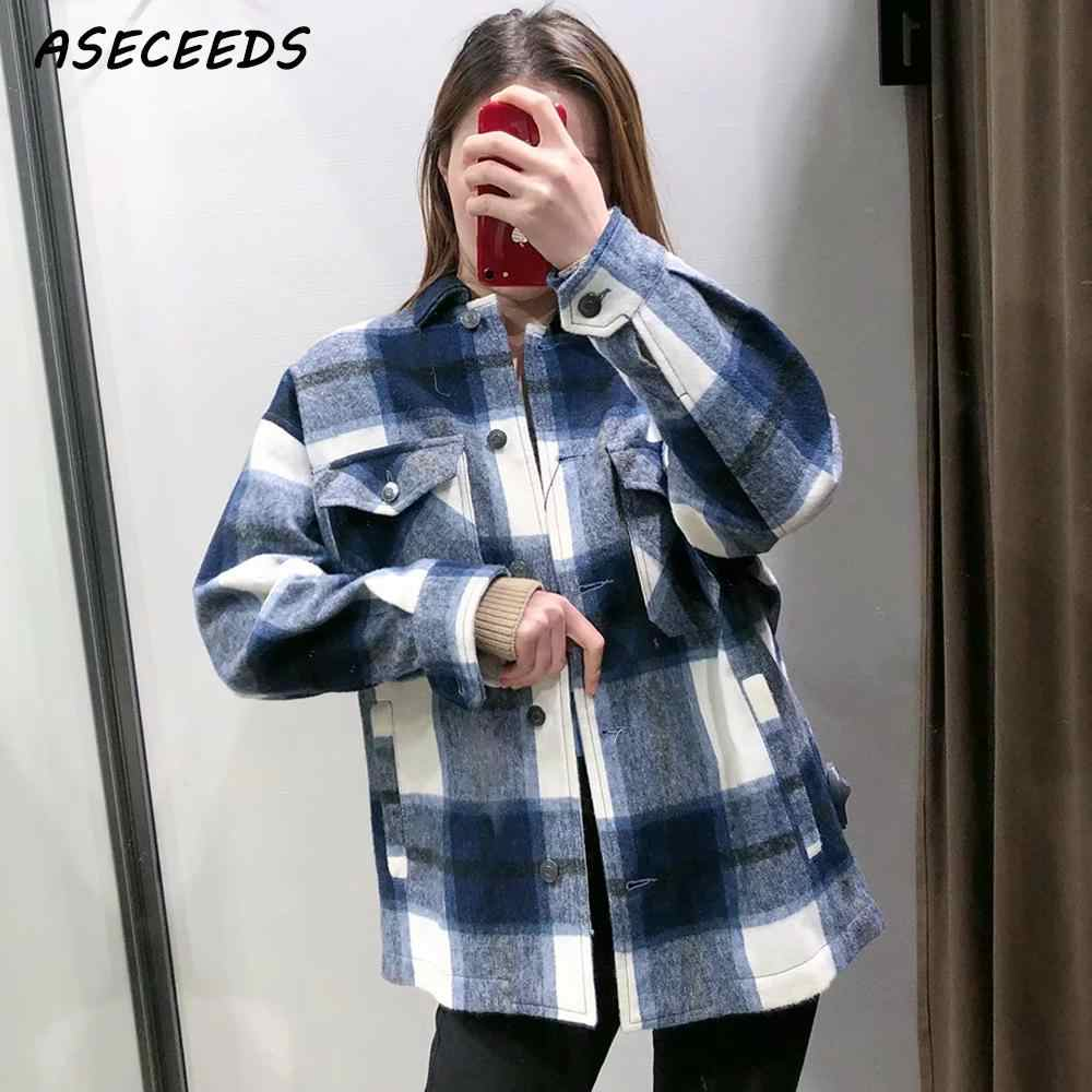 2019 herbst tops und blusen vintage plaid shirt frauen langarm bluse korean street fashion plus größe frauen shirts kawaii
