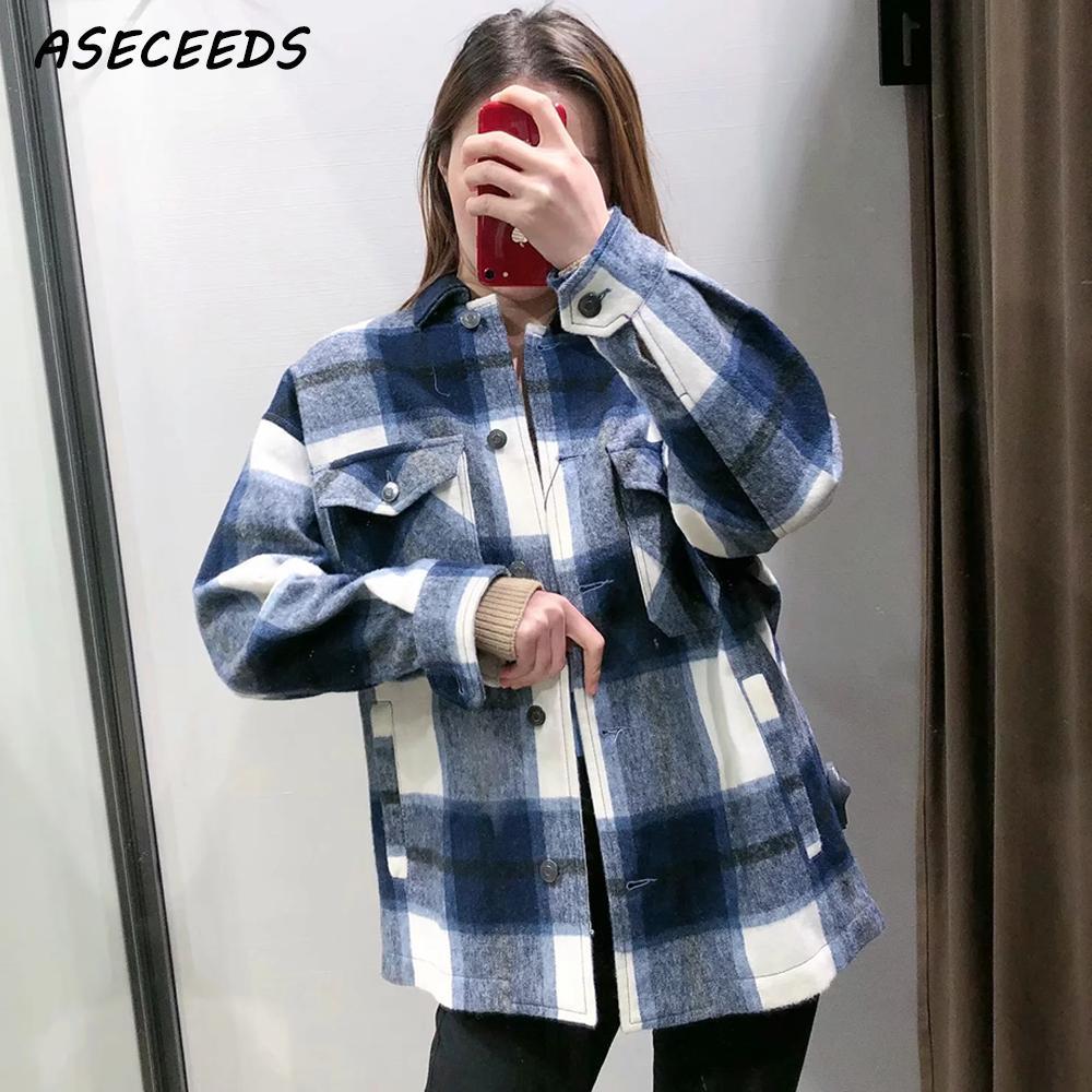 2019 Fall Tops And Blouses Vintage Plaid Shirt Women Long Sleeve Blouse Streetwear Korean Fashion Plus Size Women Shirts Kawaii