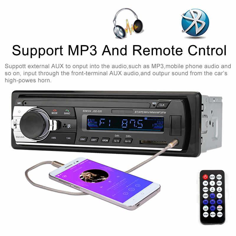 Autoradio voiture MP3 Radio Bluetooth 1 Din FM multimédia stéréo lecteur automatique USB SD AUX entrée mains libres