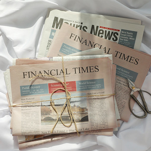 Image 4 - 2pcs/set Vintage Style English Newspaper Decoration Items Photography Backdrops for Food Flowers Cosmetic Shoot Background Props