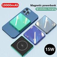 Mini banco de energía magnético inalámbrico para teléfono móvil, batería externa de 10000mAh para iphone 12 12pro 12promax magsafe