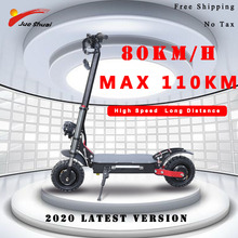 2020 New Foldable Twin motor Electrical Scooter for Grownup 60V 3200W Nice energy 110km Lengthy Distance skateboard with seat e bike