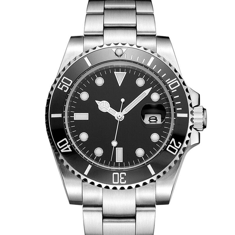Ocysa Black Ceramic Bezel No Logo Brand Luxury Mechanical Automatic Men Watch Masculino Sport Mens Watches Wristwatch