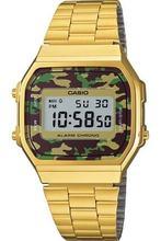 Оригинальный casio унисекс золото Ретро Камуфляж дисплей часы a168wegc-3df a168wegc-3df часы для мужчин