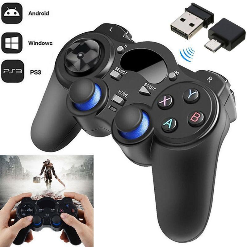 2,4G беспроводной геймпад Android игровой контроллер Джойстик с микро USB Адаптер конвертера OTG для смартфонов Smart TV PC PS3|Геймпады|   | АлиЭкспресс