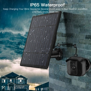 Image 2 - Solar Panel for Security Camera 5V Wall Mount Outdoor Weatherproof Solar Power Charging Panel for Home System Android Interface