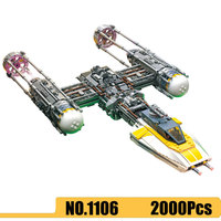 1106 2000Pcs Star set Wars Movie Y Wing fighter Building Blocks Brick Compatible Legoinglys 75181 05143 Toys for Children Gifts