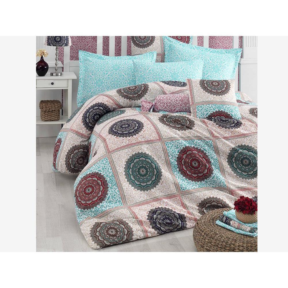 Oriental 100 Cotton Double Duvet cover set Blue