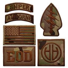 Airborne sinper заплата вышивки нам Военная нарукавная нашивка