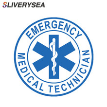 SLIVERYSEA 10CM*10CM Star of Life EMT Emergency Medical Technician Car Sticker and Decal PVC