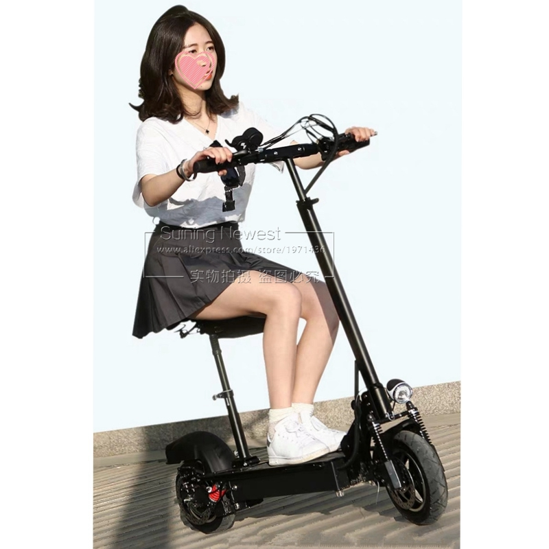 Factory Price Adult Kids Bycicle Electric Bike Foldable Bicycle 10 Inch Big Wheel Mini Folding Kick Scooter Mobility Scooter