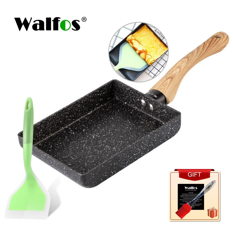 Walfos сковородка для жарки Tamagoyaki омлет черный антипригарный противень для сковородка для жарки сковорода для яиц блин Кухня только горшок Пр...