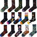 Унисекс картина Стиль хлопковые цветные детские носки Kawaii модный носки для женщин и мужчин, 1 пара Уличная Скейтборд Спортивные очки для вел...