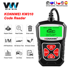 KONNWEI KW310 OBD2 Car Diagnostic Scan Tool Automotive Code Reader with Russian OBD 2 Scanner Auto Tools PK ELM 327 V 1 5 AS100