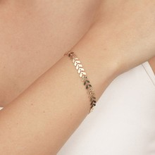 Punk Simple Arrow Sequins Bracelets Bangles Snake Bone Aircraft Chain Bracelet Bangle Jewelry For Women