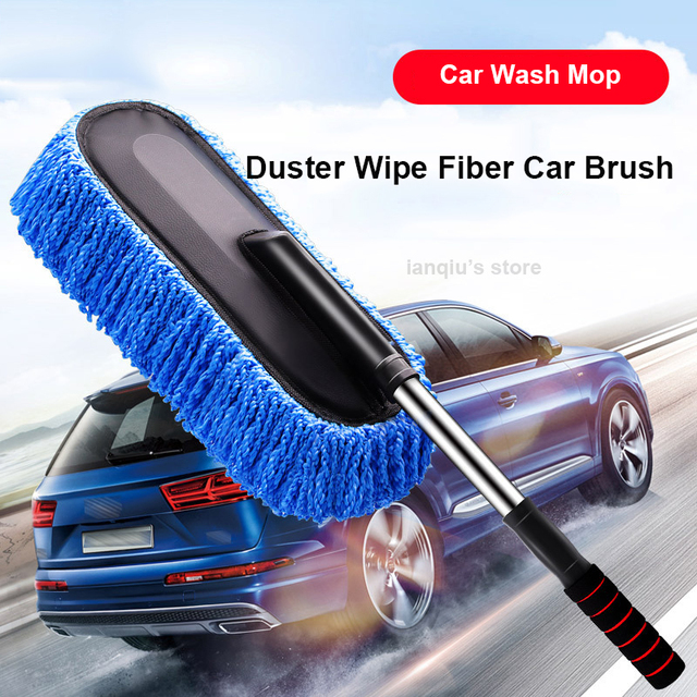 Chenille Car Wash Mop Duster Wipe Fiber Car Brush Car Wash Cleaning Retractable Models