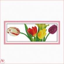 Красивые цветы тюльпана китайские наборы для вышивки крестиком