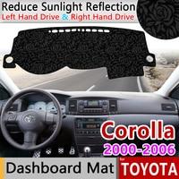 for Toyota Corolla 2000 2001 2002 2003 2004 2005 2006 E120 E130 Anti Slip Mat Rose Pattern Dashmat Dashboard Cover Accessories