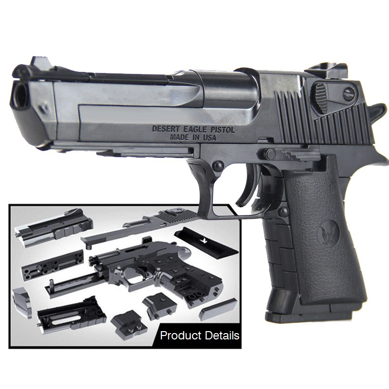 DIY Building Blocks Toys Weapon Desert Eagle And BERETTA Revolver Wtih Bullet Plastic Pistol Model For Children Boys