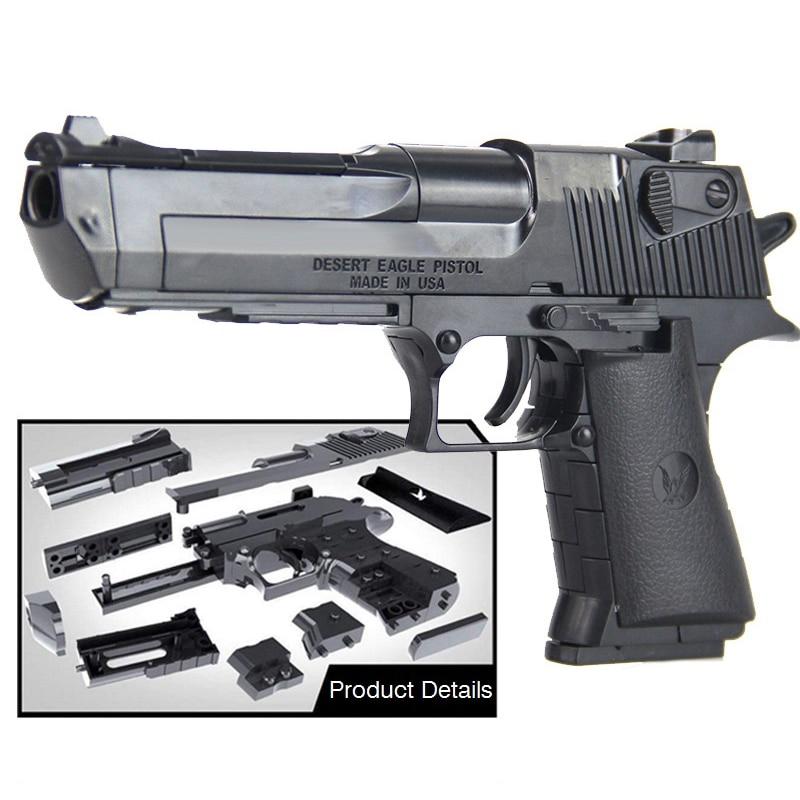 DIY Building Blocks Toys Weapon Desert Eagle And BERETTA Revolver Wtih Bullet Plastic Pistol Model For Children Boys