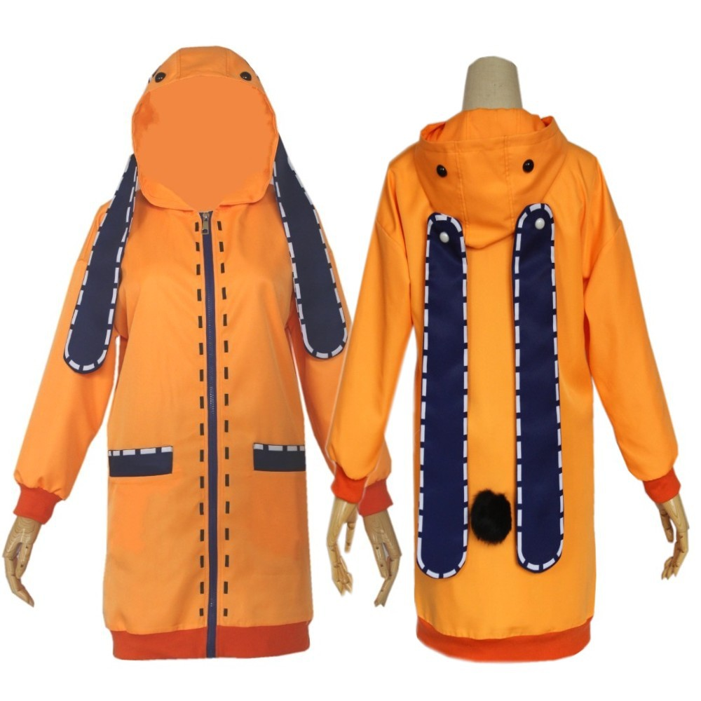 Аниме Косплей Костюм одежда Аниме юмодики Руна косплей костюм для девочек женское оранжевое пальто толстовки куртка на молнии пальто