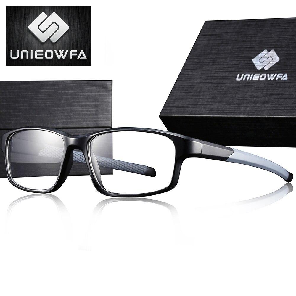Optical Myopia Glasses Frame Men TR90 Sport Prescription Eyeglasses Frame Clear Transparent Progressive Spectacles Frame Eyewear