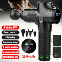 Newly Percussion Massage Guns Tool 4 Heads 30 Speeds Vibration Muscle Body Therapy Massager S66