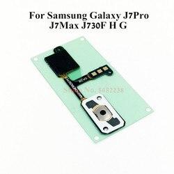 Oryginał do Samsung Galaxy J7Pro J7Max J730F/H/G przycisk Home powrót przewód elastyczny czujnika menu klucz złącze