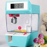 Máquina de juego de atrapar con alarma para niños, grúa arcade automática de juguete que funciona con monedas, con garra para atrapar muñecas y caramelos