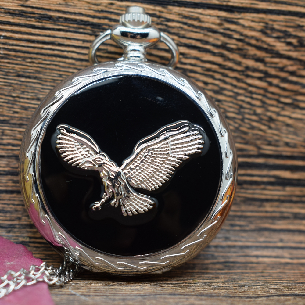 Pocket & Fob Watches  Silver Eagle Animal Quartz Pocket Watches Vintage Fob Watches  Gift for Men/Women