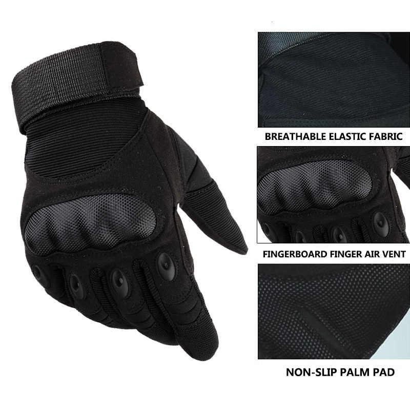 Touchscreen Guanti Da Moto In Pelle Artificiale Duro Knuckle Finger Equipaggiamento Completo di protezione Da Corsa Biker Equitazione Moto Motocross