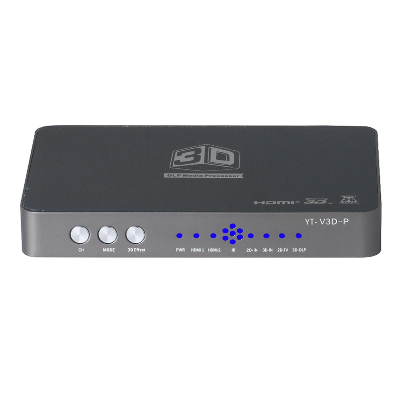 HDMI-compatible Converter/2D to 3D/Video Converter Left and Right Up and Down Format to 3D Fit Projection Blu-Ray Film EU Plug