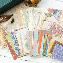 60 folhas quentes vintage colagem scrapbooking/cartão fazendo/projeto de jornaling especial diy retro fonte material de fundo papel