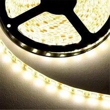 5 м или 10 м/упак. 2835 SMD еще ярче, чем 3528 5050 SMD Светодиодные ленты светильник постоянного тока 12В водить 60leds/M крытый декоративные ленты белого и ...
