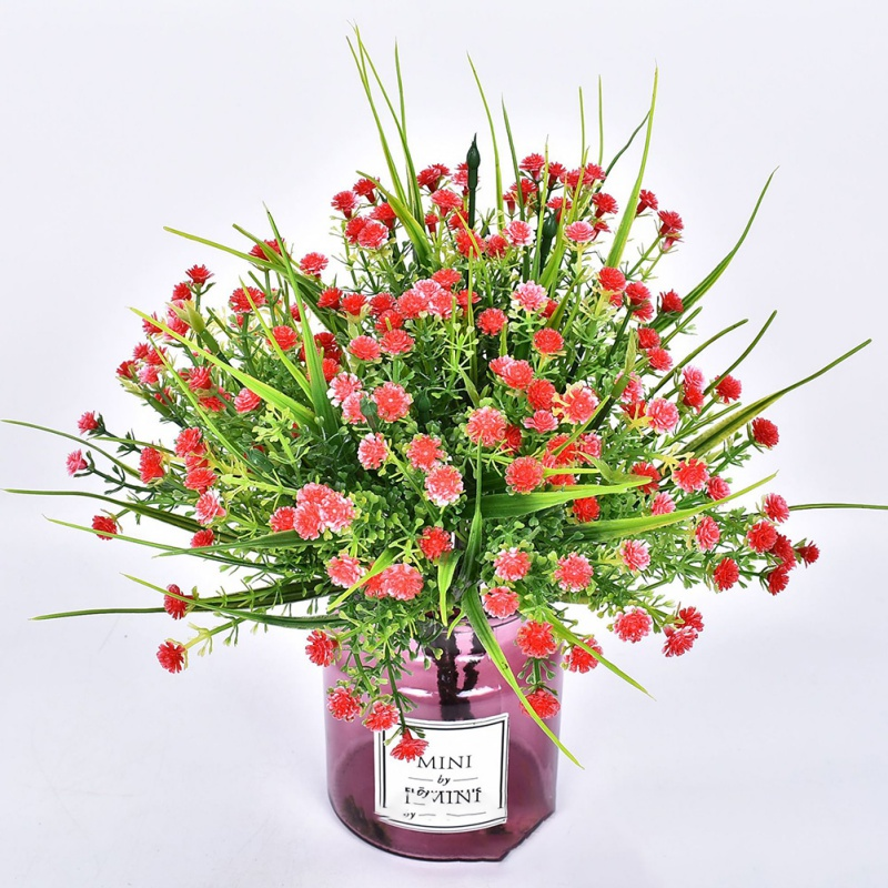 2019Artificial Rose Orchid Grass Bouquet For Home Wedding Decoration Festive Party Supplies Fake Flower Starry Outdoor Flowerpot in Artificial Dried Flowers from Home Garden