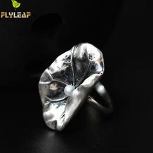 Flyleaf серебро 925 пробы Пресноводный Жемчуг лист лотоса открытые