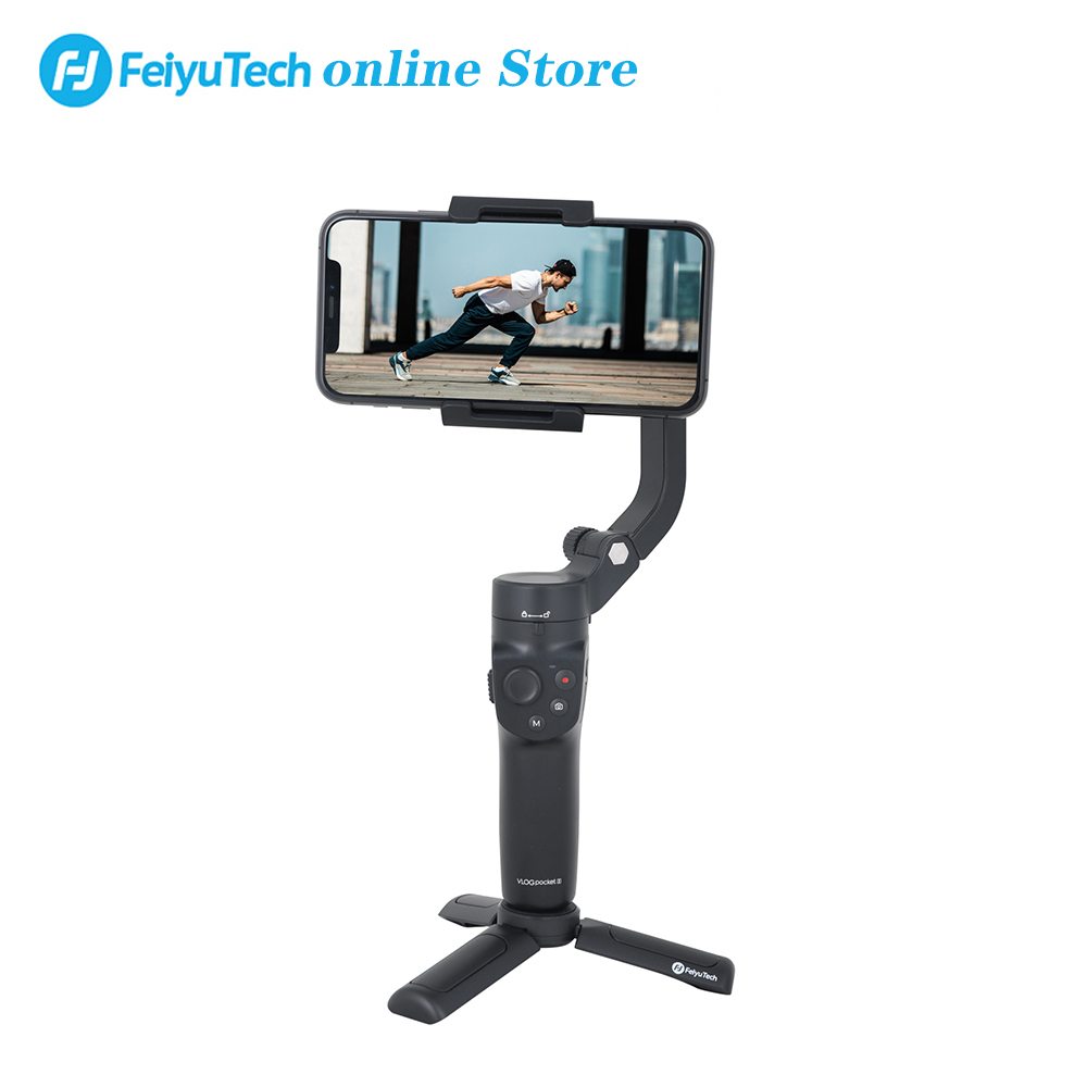 FeiyuTech Vlog Pocket 2 Handheld Smartphone Gimbal Stabilizer selfie stick for iPhone 8 7 plus XS XR  HUAWEI Samsung