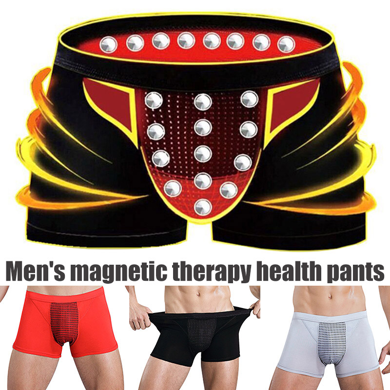 Hot Sale Black Men Male Health Care Magnetic Boxer Shorts Breathable Elastic Casual Underwear  Male Sexy Underwear  H66