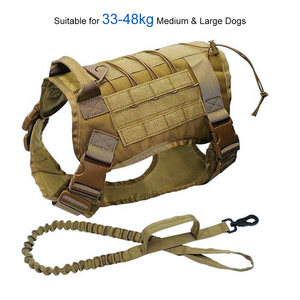Image 5 - Military Tactical Dog Harness Working Dog Vest Nylon Bungee Leash Lead Training Running For Medium Large Dogs German Shepherd