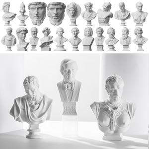 New Mini Figurine Plaster Statue Greek Mythology Celebrities Famous Sculpture Drawing Practice Gypsum Bust Portraits Home Decor