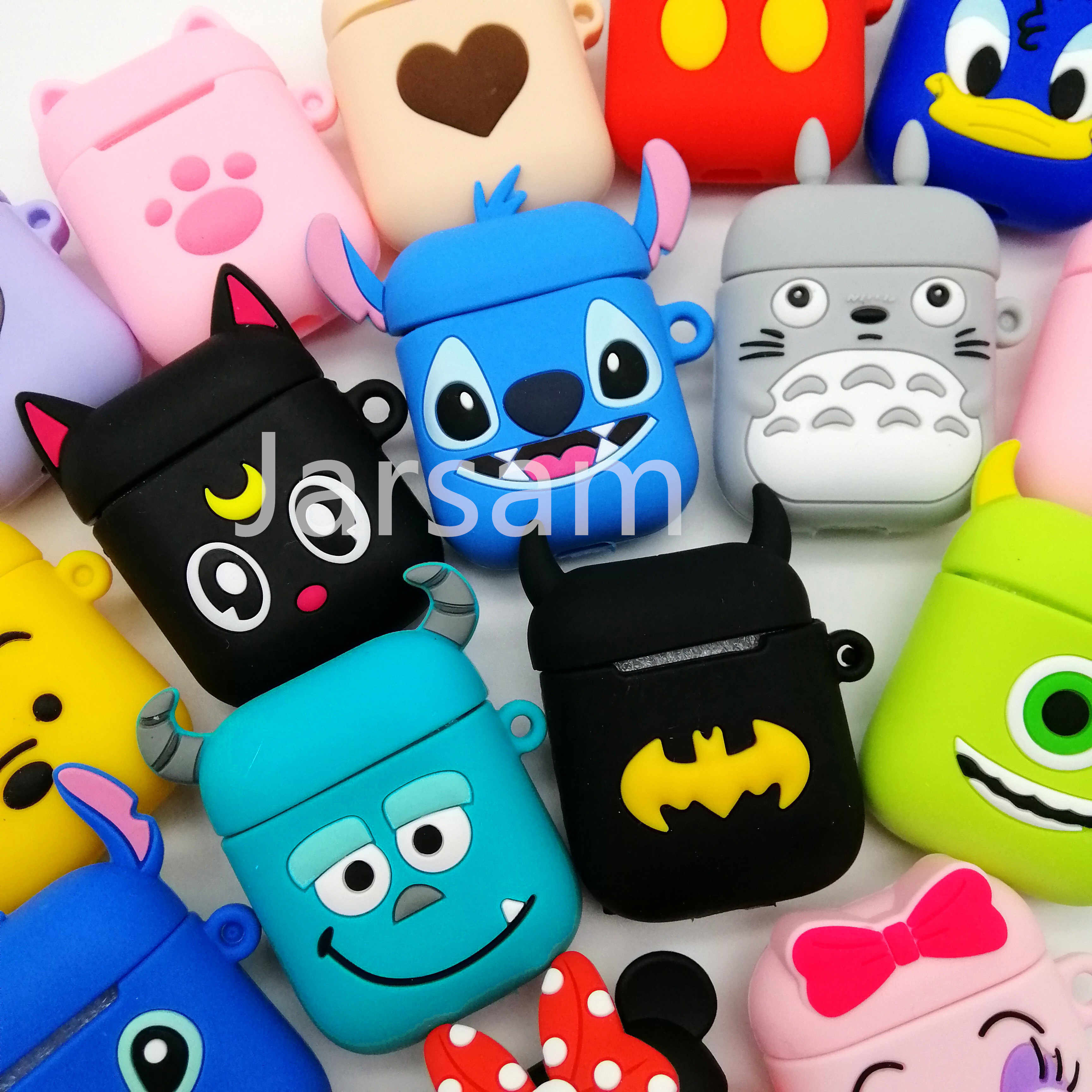Cute Cartoon Wireless Earphone Case For Apple AirPods 2 Silicone Charging Headphones Case for Airpods Protective Cover