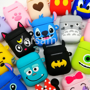 Cartoon Cute Wireless Earphone Case For AirPods 2 Silicone Charging Headphones Case for Air pod cases Protective luxury Cover