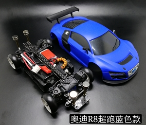 RC мини пульт дистанционного управления Москитная машина Модифицированная MINI-Q6 мини Дрифт автомобиль 1/28 Москитная Audi R8 радиоуправляемая Иг...
